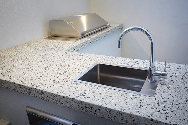 WA Exposed Concrete Benchtop